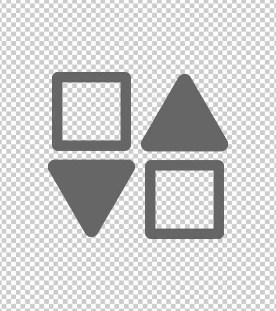 方形三角对称图标总结