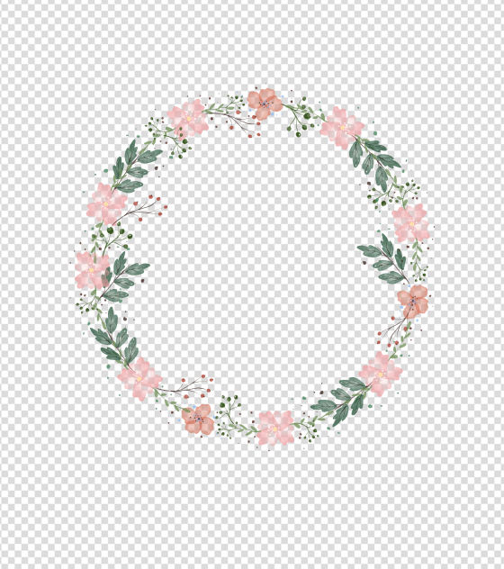 400x400pt_粉色水彩花环