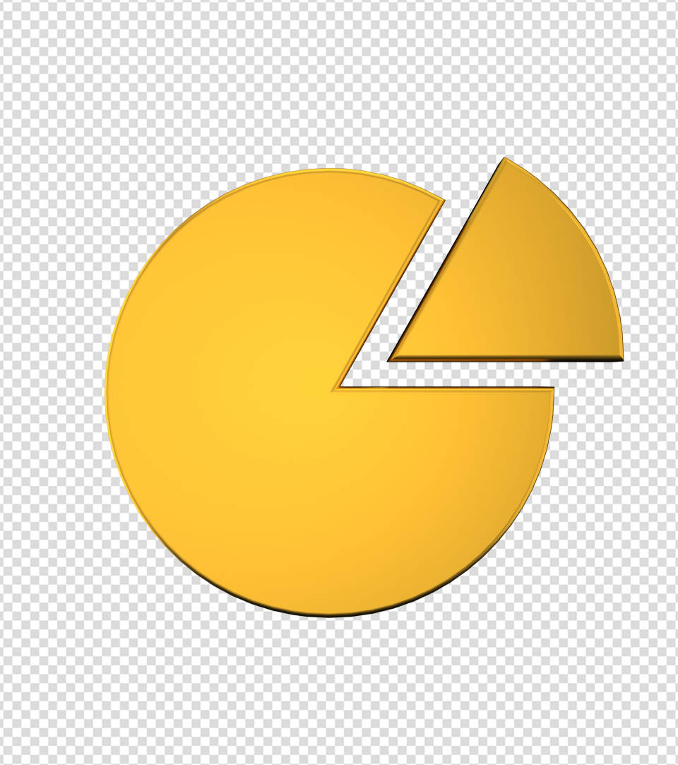 商务ppt元素系列3D金色圆形统计表
