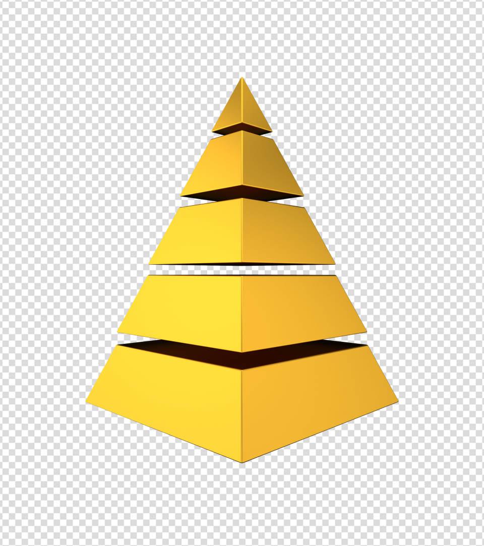 商务ppt元素系列3D黄金金字塔