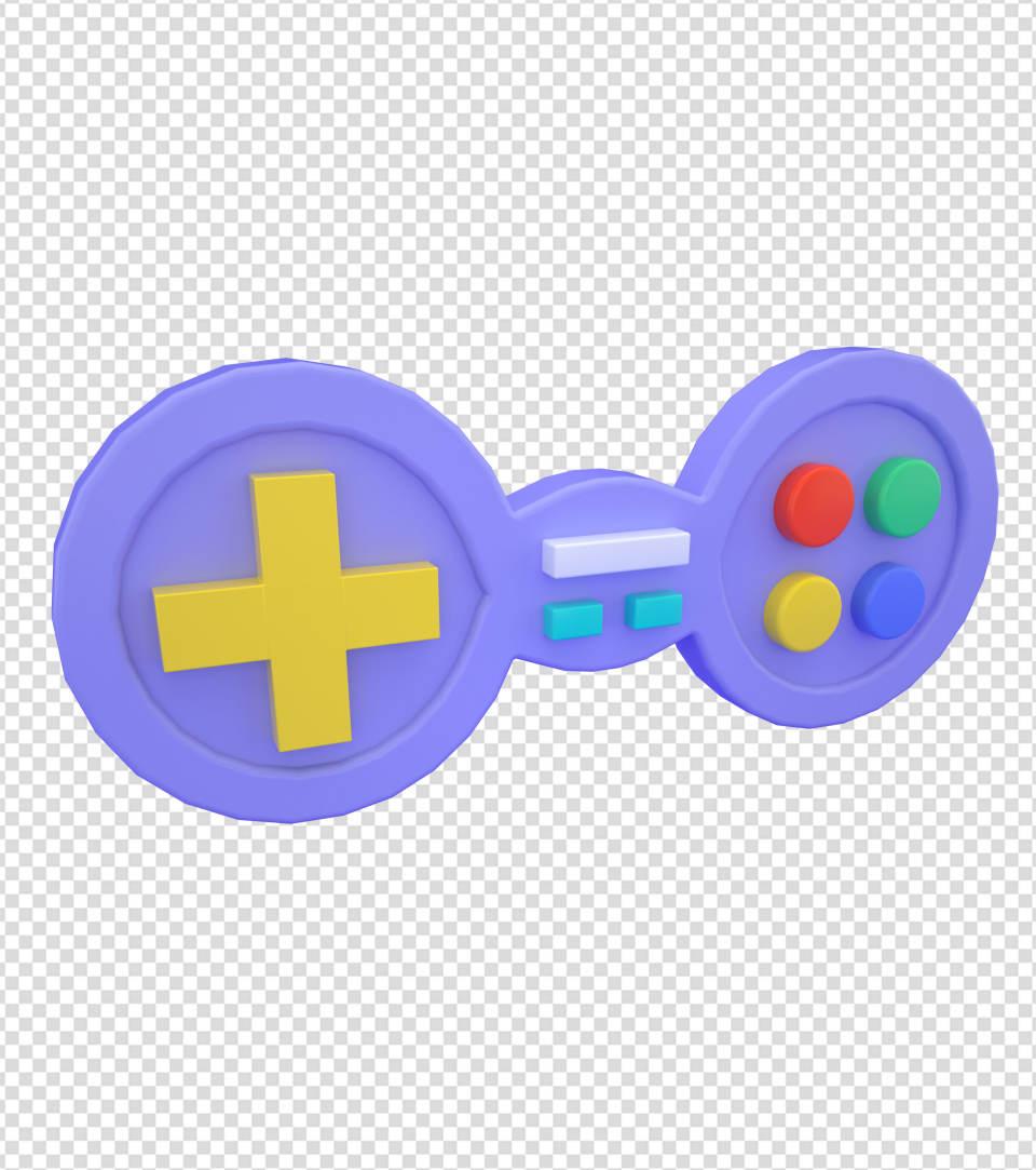 商务ppt元素系列3D游戏手柄