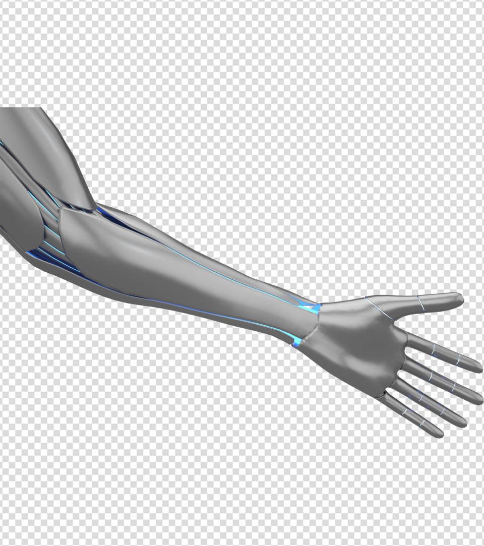 商务ppt元素系列3D机械左手臂