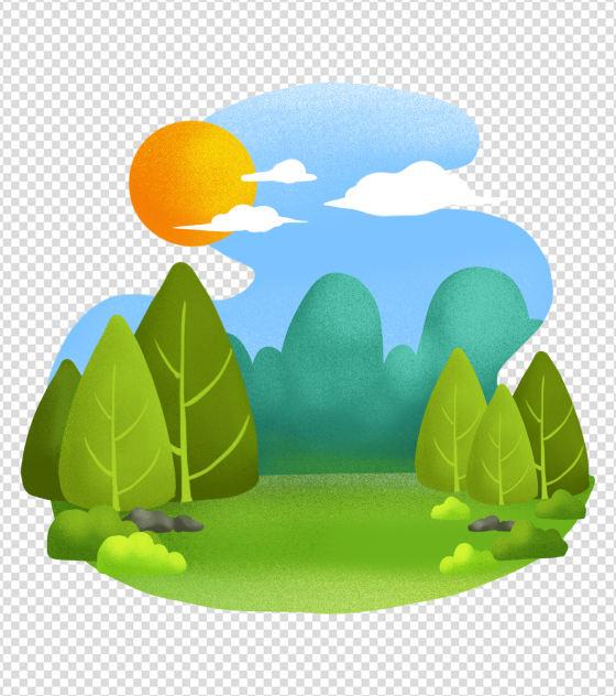 ppt元素原创不规则形状风景