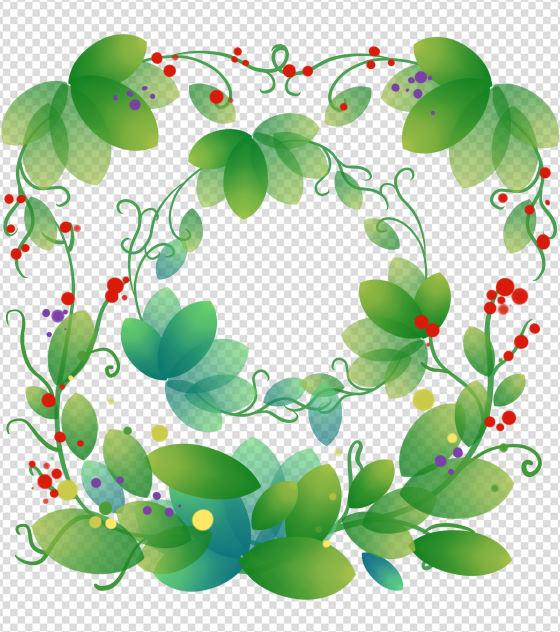 ppt元素原创绿色植物边框装饰