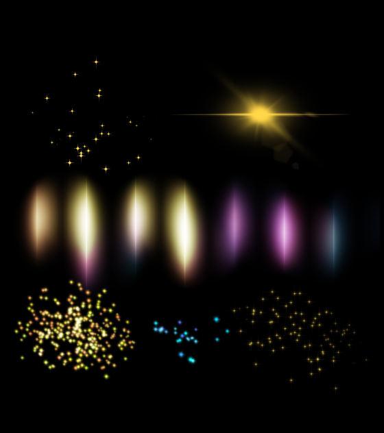 原创缤纷光影效果元素