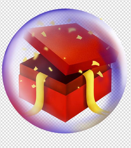 泡泡礼盒漂浮元素