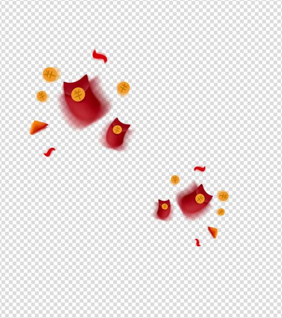 可爱红包效果元素