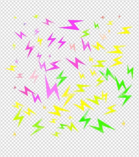 闪电漂浮元素