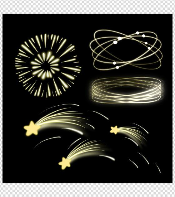 星星烟花效果元素
