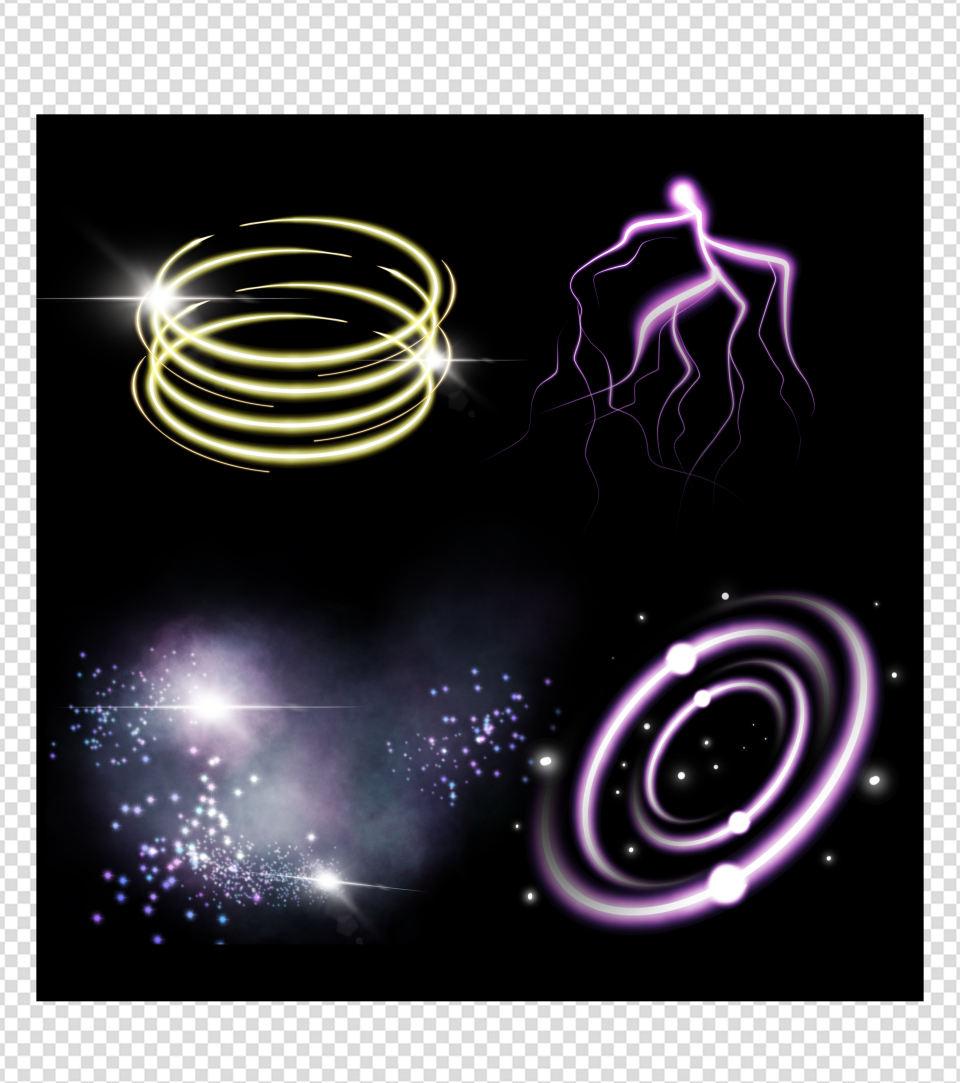 光圈闪电效果元素