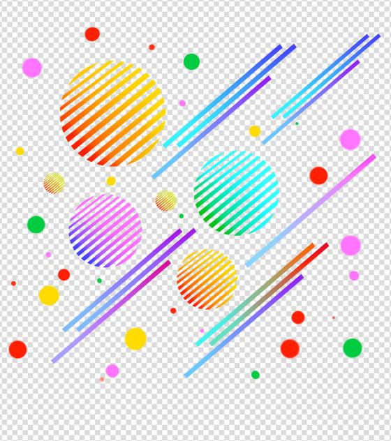 圆形线条漂浮元素