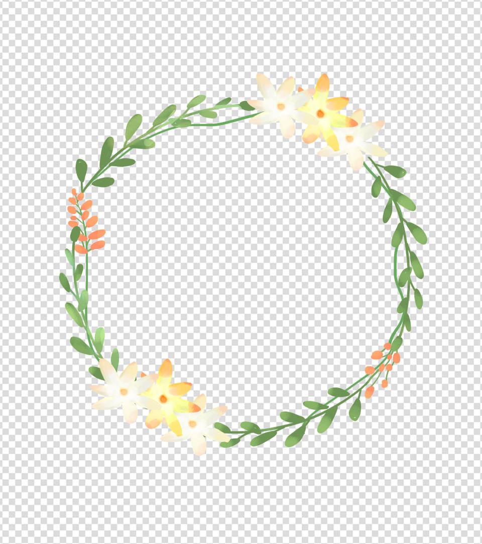 3000pt*3000pt小清新圆形花环