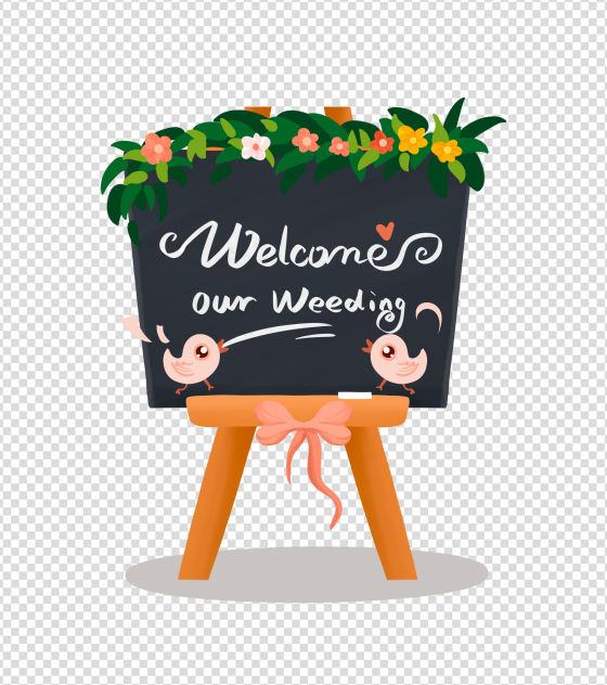 婚庆迎宾小黑板