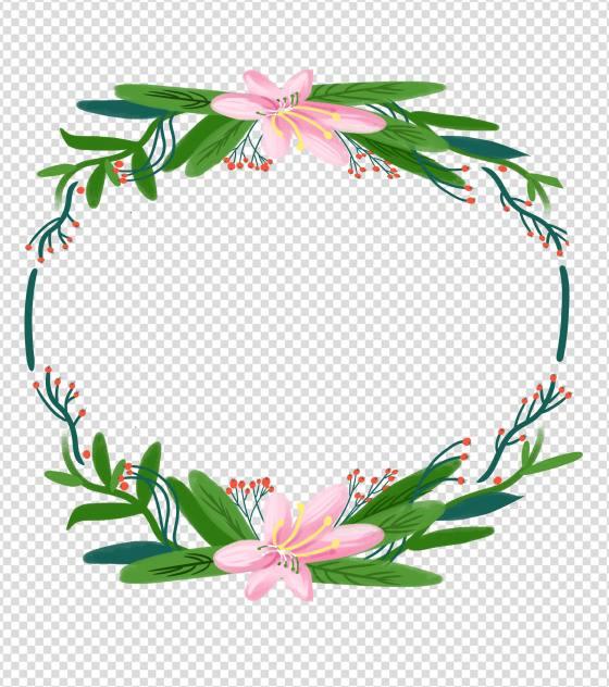 文艺清新花卉边框