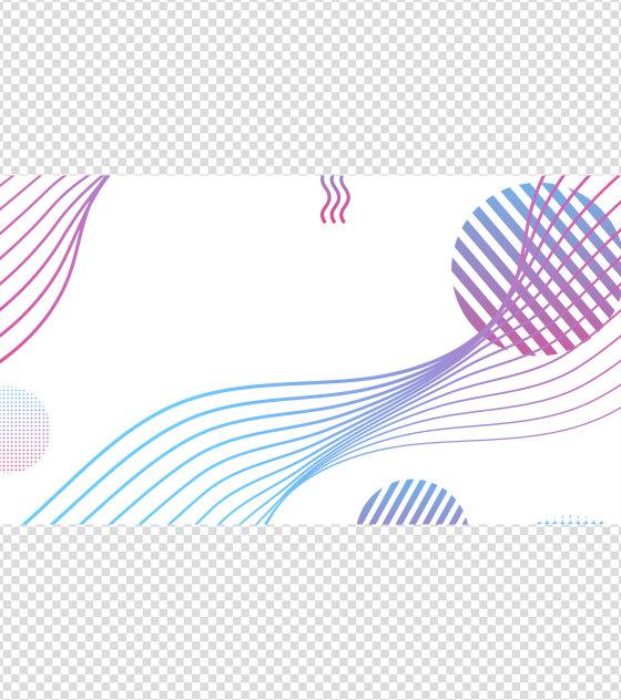 彩色流线几何PPT元素