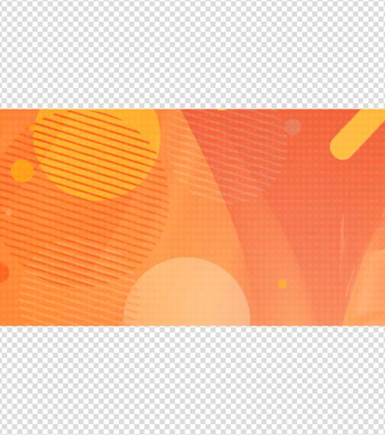 活力橙背景PPT元素