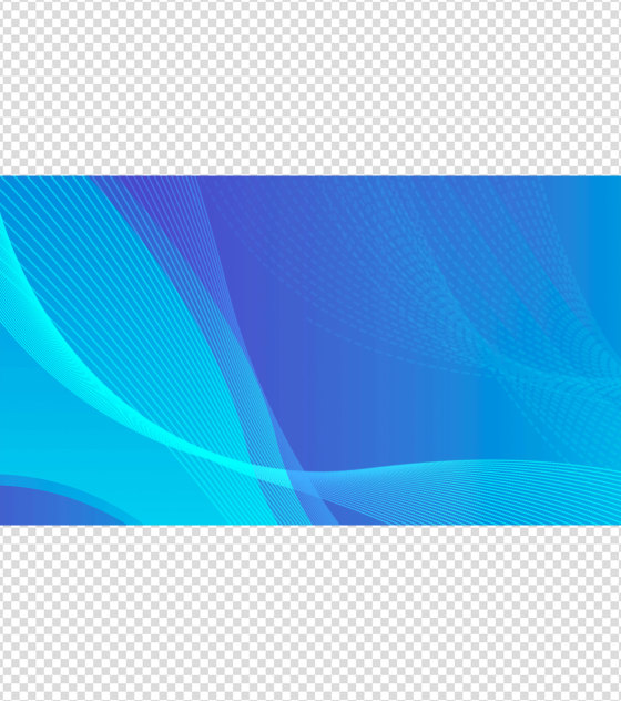 简约时尚蓝色PPT元素