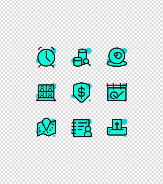 薄荷绿手机应用图标