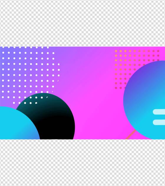 紫色流线体PPT元素